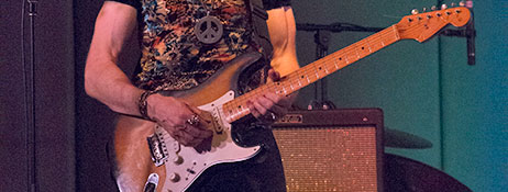Fender Strat on stage at Santana Tribute show