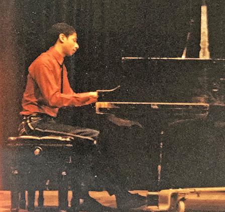 David at piano recital