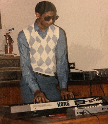 David with Korg keyboard